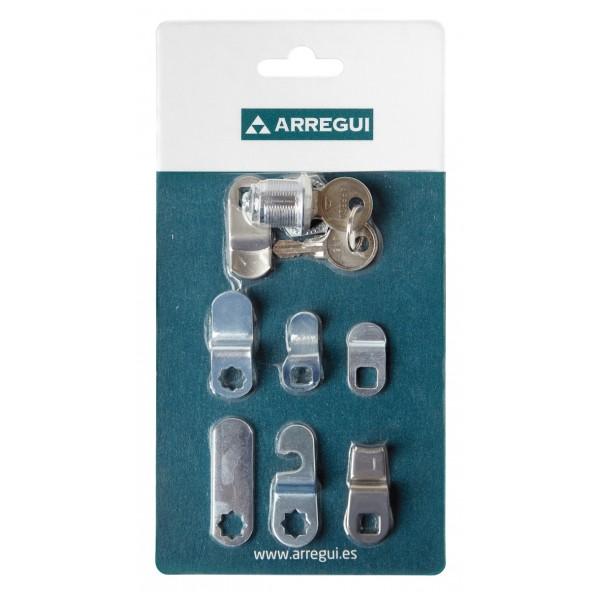 serratura universale a cilindro nichelata Ø 16x21 mm cassette postali armadietti